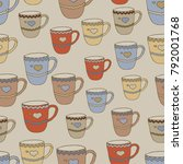 seamless pattern with multi... | Shutterstock .eps vector #792001768