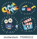 vector cartoon illustration of... | Shutterstock .eps vector #792002212