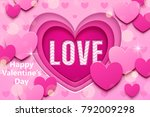 valentines day design  pink... | Shutterstock .eps vector #792009298