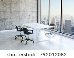 3d office interior with big... | Shutterstock . vector #792012082