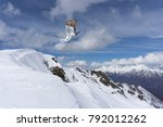skier jump in the mountains.... | Shutterstock . vector #792012262