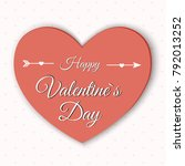 valentine's day abstract... | Shutterstock .eps vector #792013252