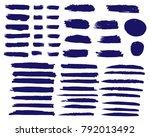 collection of hand drawn dark... | Shutterstock .eps vector #792013492