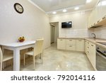 kitchen with appliances and a... | Shutterstock . vector #792014116