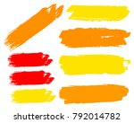 collection of hand drawn golden ... | Shutterstock .eps vector #792014782