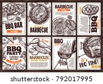collection of vector hand drawn ... | Shutterstock .eps vector #792017995