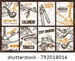 collection of vector hand drawn ... | Shutterstock .eps vector #792018016