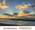 Sunset Over The Atlantic Ocean...