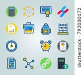 icon set about education and...   Shutterstock .eps vector #792030172
