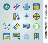 icon set about education and... | Shutterstock .eps vector #792030286