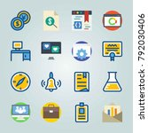 icon set about education and... | Shutterstock .eps vector #792030406