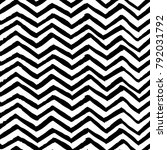 brush painted chevron black and ... | Shutterstock .eps vector #792031792