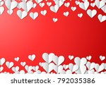 valentines day card with... | Shutterstock . vector #792035386