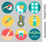 icons set about medical | Shutterstock .eps vector #792037492