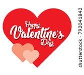 happy valentine's day vector | Shutterstock .eps vector #792041842