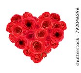 vector heart bouquet of red... | Shutterstock .eps vector #792046396