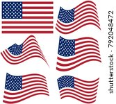 set of national flags of united ... | Shutterstock . vector #792048472