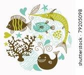 sea life | Shutterstock .eps vector #79205098