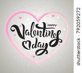 valentine s day text design... | Shutterstock .eps vector #792059272