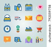 icon set about travel. with... | Shutterstock .eps vector #792059758