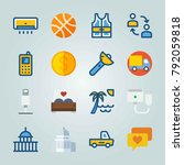 icon set about travel. with... | Shutterstock .eps vector #792059818