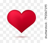 soft red heart with transparent ... | Shutterstock .eps vector #792067195