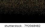 gold glitter texture on a black ... | Shutterstock .eps vector #792068482