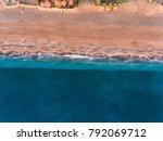 bird's eye drone photo of a... | Shutterstock . vector #792069712