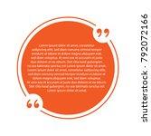 quote box bubble templates....   Shutterstock .eps vector #792072166
