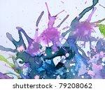 Purple Watercolor Background 4