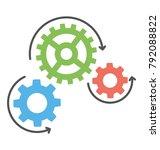 creative flat vector icon...   Shutterstock .eps vector #792088822