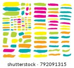 collection of hand drawn... | Shutterstock .eps vector #792091315