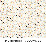 seamless abstract stylish... | Shutterstock . vector #792094786