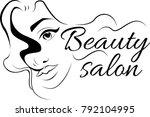make up logo for beauty studio. ... | Shutterstock .eps vector #792104995