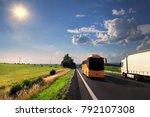 truck transportation and bus on ... | Shutterstock . vector #792107308