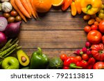 frame of different types of... | Shutterstock . vector #792113815