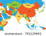 colorful political map of... | Shutterstock .eps vector #792129892