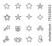 star icon set vector. sign and... | Shutterstock .eps vector #792130312