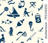 digital vector seamless pattern ... | Shutterstock .eps vector #792133252