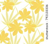 exotic seamless pattern with... | Shutterstock .eps vector #792133336