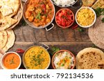 selection of indian food | Shutterstock . vector #792134536