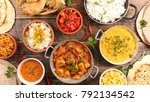 selection of indian food | Shutterstock . vector #792134542