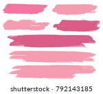 collection of hand drawn pink... | Shutterstock .eps vector #792143185
