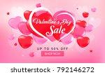 valentine's day sale background ...   Shutterstock .eps vector #792146272