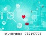 2d render of dna structure ... | Shutterstock . vector #792147778