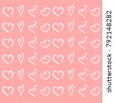 a set of hearts for st.... | Shutterstock .eps vector #792148282