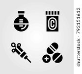medical vector icons set.... | Shutterstock .eps vector #792151612