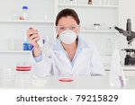 young scientist preparing a... | Shutterstock . vector #79215829