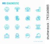 mri diagnostics thin line icons ... | Shutterstock .eps vector #792160885