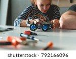 mechanical car   school... | Shutterstock . vector #792166096